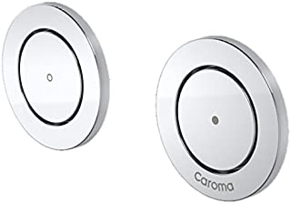 Caroma 237013S Invisi Round Dual Flush Custom Button Set, Satin