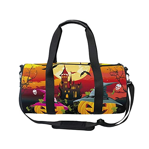Bolsa de viaje de Halloween Moon Pumpkin Bat Castle Bolsa de deporte...