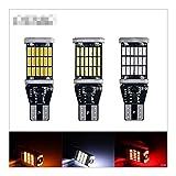 2 PCS T15 W16W LED Bombillas Alta Potencia 45 SMD Sin Error Alta Potencia Blanco DC 12V Atrás Aparcamiento Lámparas Aparcamiento LED Luz Interior Luz (Emitting Color : T15 Yellow)