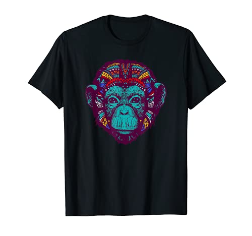 Bonobo サイケデリックTシャツ - 奇抜なシャーマンレイブバイブTシャツ Tシャツ