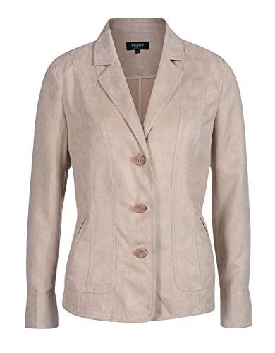 Bexleys Woman by Adler Mode Damen Revers Lederimitat beige 46