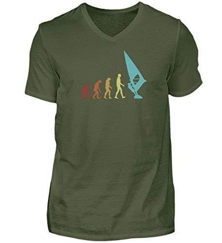 Camiseta de manga corta con cuello de pico para hombre, diseño de...