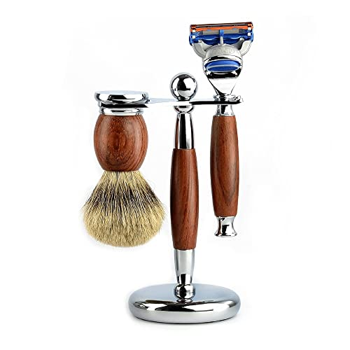 Set di cure di rasoio for uomo, strumento di spazzole di bellezza portatile, spazzola da barba, supporto da barba, kit di rasoio, forniture for la pulizia del bagno, for uomo Kit da viaggio perfetto