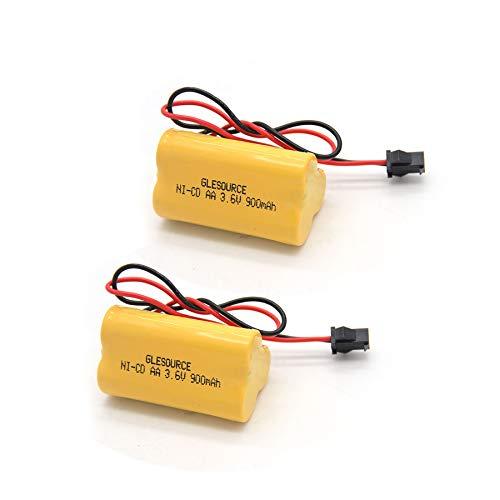 GLESOURCE 3.6V 900mAh Emergency/ Exit Light Battery Compatible for Lithonia ELB B001 ELBB001 ELB-B001 Lithonia EU2 LED Interstate ANIC1566 Unitech 0253799(2 Pack)