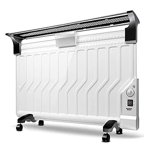 KFJCMY Radiador De Montaje En Pared Rellenos De Aceite, Blanco Eléctrico Temporizador De Habitación De Habitación De Calefacción por Radiador para Dormitorio, Calentador Radiador Termostato Ajustable