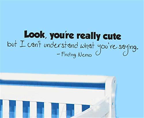 wandaufkleber kinderzimmer mädchen Schau, du bist wirklich süß, aber ich kann nicht verstehen, was du sagst