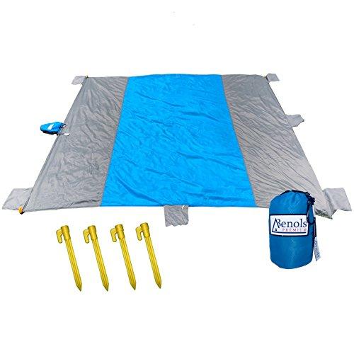 """Preisvergleich Produktbild Premium sand frei Outdoor wasserabweisend ,  Picknick-Decke,  Strand (7 """" x 9,  kompakt tragbar Mat mit großen Reißverschluss-Einsatz mit Karabiner,  Sand,  wasserdicht Nylon,  ideal für Wandern"""
