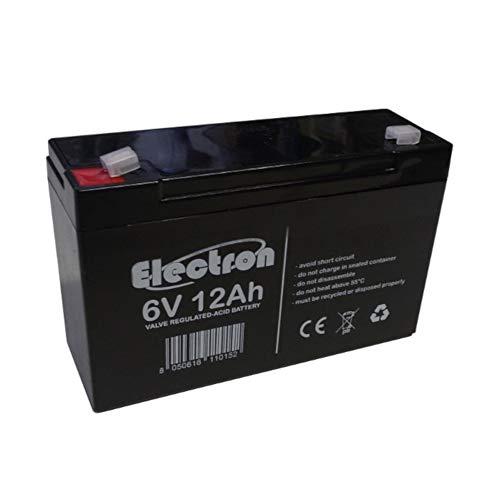 6V 12Ah batteria al piombo ricaricabile sigillata ermetica compatibile con 6V 10Ah per Auto Macchine Quad Moto per Bambini
