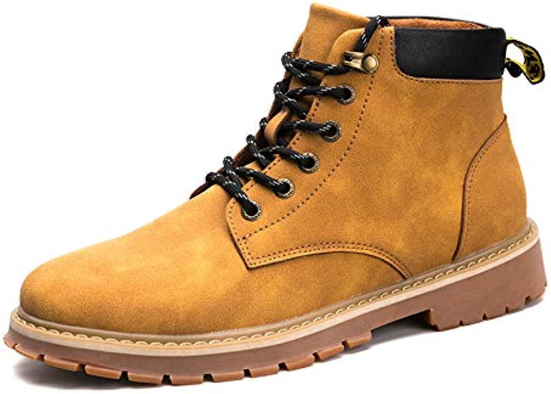 ZyuQ Herrenstiefel Hohe Hilfe Martin Stiefel Herren Wintermode Werkzeug Schuhe Verdickung Warme Militrstiefel Schuhe Mnner