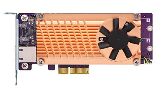 QNAP QM2-2P10G1TA Carte et Adaptateur d'interfaces M.2,RJ-45 Interne - Cartes et adaptateurs d'interfaces (PCIe, M.2,RJ-45, Profil Bas, PCIe 2.0, NAS/Storage Server, Actif)