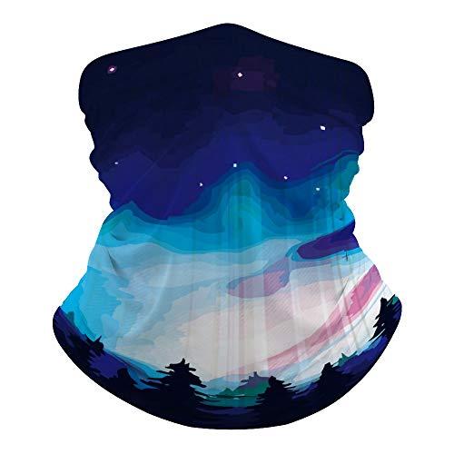 JKMEOO Aurora Borealis Guêtres pour le cou et le cou - Masque pour le visage, le bandana - Cagoule - Résidence UV pour la randonnée et le cyclisme., Couleur 23, 0ne size