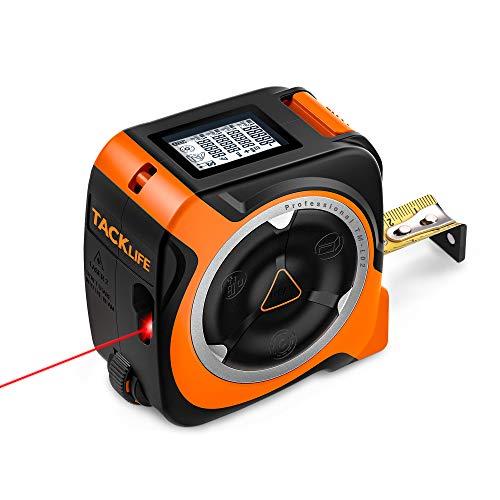 Massband Laser Entfernungsmesser Rollmaßband 3-in-1, Messrad Lasermessung 40m Bandmaß 5m, Laser Messgerät mit Typ-C-Schnittstelle und LCD-Anzeige-TACKLIFE TM-L02