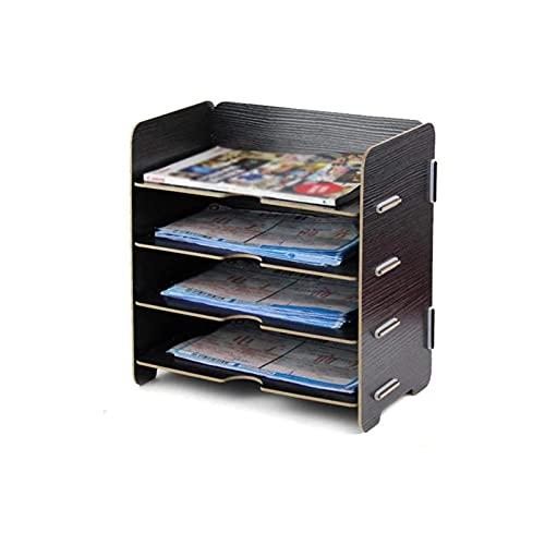 XXSHN Soporte para Archivos Duradero, estantes para Archivos Organizadores de 4 Niveles para Negocios, Tiendas en el hogar, escuelas, organización de Archivos, Carpetas, Escritorio, Bandeja para
