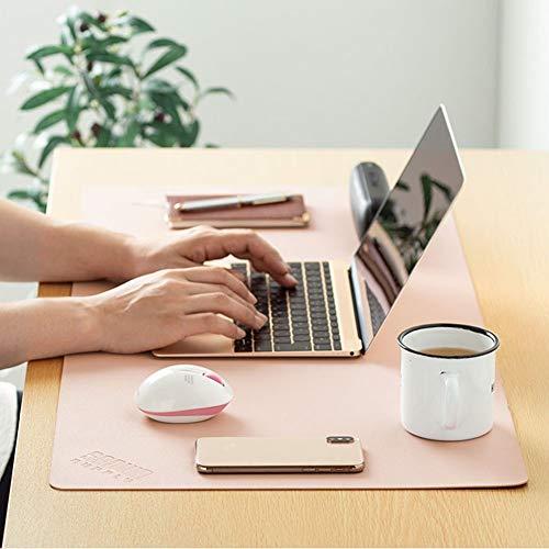 WHDMNet PU-lederen bureau-onderlegger, multifunctionele bureau-onderlegger, slip, comfortabel, gaming-muismat, grote muismat, voor computer