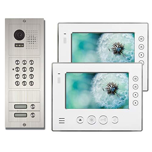 Anthell Electronics M2D1-812S1-02 AE 2 Fam. Code Farb-Videotürsprechanlage Set 2