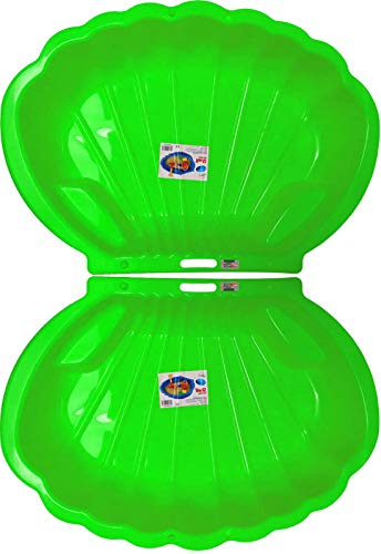 2-er Sandkasten Sandmuschel Muschel Wasser Planschbecken groß 108x79cm XL, 5 Farben! (Grün)