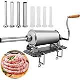 Sausage Stuffer Meat Filling Kitchen Stainless Steel Machine with 4 Size of Professional Nozzles Tube