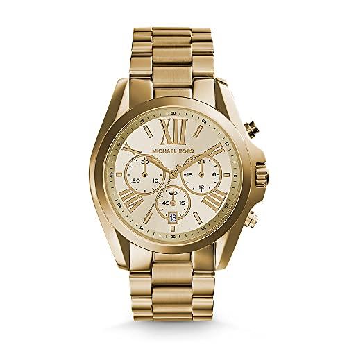 Michael Kors Women's MK5605 Bradshaw Gold-Tone Stainless Steel Watch