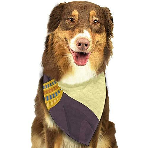 YAGEAD Pañuelo para Perros Cachorro y pañuelos para Mascotas, Egipto Egipcio Negro Gato Plano Dios Bufanda para Mascotas