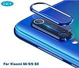 NOKOER Della Camera Lens Protector per Xiaomi Mi 9 SE, [2 in 1] Fotocamera Protezione Anello + Pellicola Protettiva per L'obiettivo, 360 Gradi Proteggi la Fotocamera Posteriore - Blu