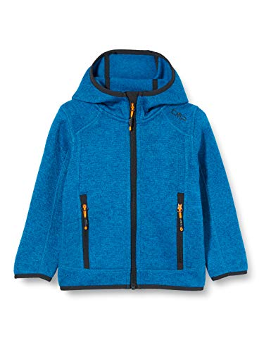 CMP Jungen Jacke Strickfleece Jacke ottanio-Flash Orange, 140, 3H60844