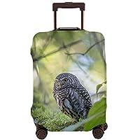 スーツケースカバー お荷物カバー ラゲッジ保護カバー かわいい フクロウ 鳥 木 出張 旅行 伸縮素材 防塵 防水 盗難 汚れ