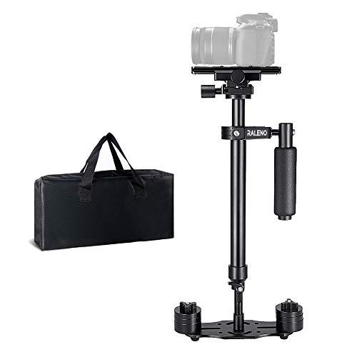 RaLeno Stabilisator für Kamera,Steadycam höhenverstellbar von 41,5cm bis 60 cm,Schwebestativ mit Schnellwechselplatte 1/4 und 3/8 Zoll Schraube für Canon Nikon Sony und andere DSLR-Kameras bis zu 3 kg