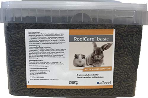RodiCare basic, 4 kg-Ergänzungsfuttermittel für Meerschweinchen und Kaninchen