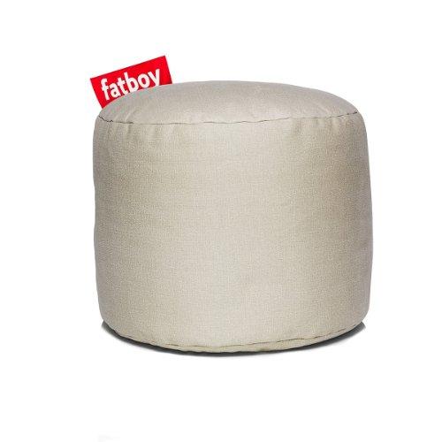 Fatboy® Point Stonewashed Sand Hocker | Runder Sitzhocker aus Baumwolle | Trendiger Poef/Fußbank/Beistelltisch | 35 x ø 50 cm