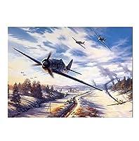 - 番号による大人の絵画キット飛行機-プライベートジェット-スペースシャトル-軍用機-スカイ -レストランの装飾