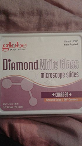 2262948 Slide Microscope +Chg Pink 72x20 Per Case sold as Case Pt# 1358P by Globe Scientific Inc.
