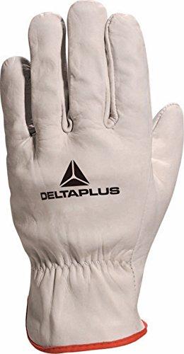 Delta Plus Paire de Gants - taille 8 - Gris (Gris Liseré Rouge)