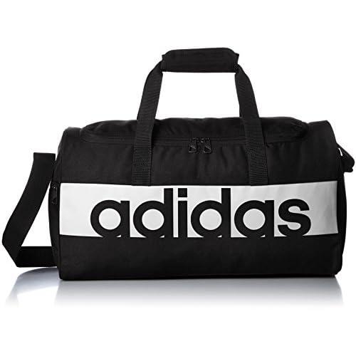 Adidas Lin per Tb, borsa sportiva, unisex per adulti, Nero (Negro/Blanco/Blanco), 20 x 47 x 25 cm