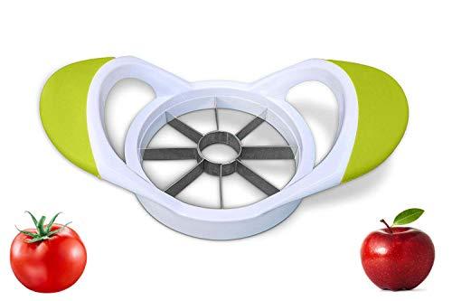 Apple Slicer Cutter Divider Corer, Pear Tomato Orange cutter divider 8-Blades Razor Sharp Stainless Steel Blades apple divider apple corer EASY TO WASH