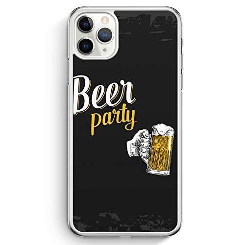 Beer Bier Party - Hülle für iPhone 11 Pro - Motiv Design Spruch Lustig Cool Witzig Jungs Männer - Cover Hardcase Handyhülle Schutzhülle Hülle Schale