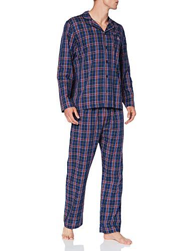 GANT Herren Pajama Set Tartan Check GIFTBOX Pyjamaset, Marine, XL