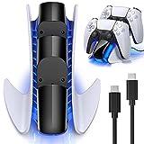 BEBONCOOL PS5 Ladestation, PS5 Controller Ladestation mit Schnelllade Schutzchip LED Anzeige für...