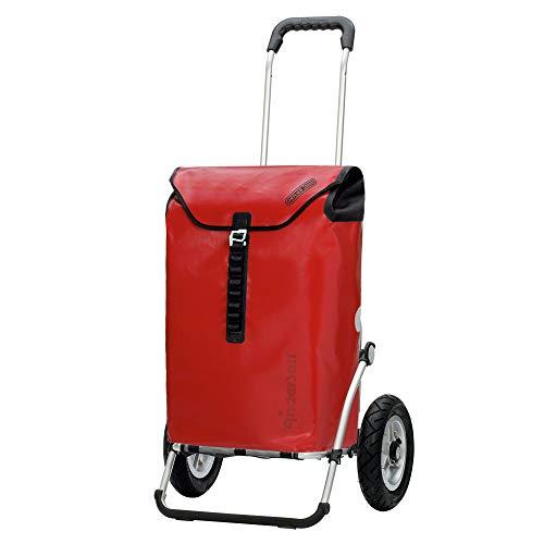 Andersen Shopper Royal Alu klappbar mit Luftreifen Ø 25cm und 49 Liter Tasche Ortlieb rot