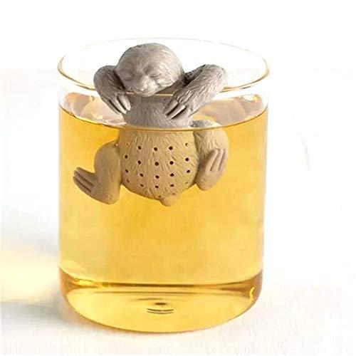 NiQiShangMao Filtro per infusore di tè Creativo Filtro di Sicurezza per Tazza da teiera, Forma di Bradipo Carino, Silicone Alimentare