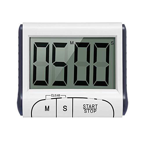 Winbang Temporizadores de cocina, temporizador de cocina digital Cronómetro de cocción con pantalla grande Sonido Alarma Panel trasero magnético Soporte retráctil
