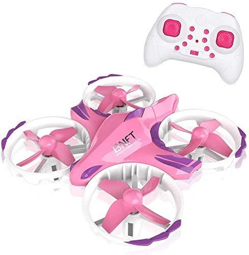 KANGSHENG Mini Drone para niños, RC Quadcopter UFO Helicóptero de Control Remoto con 2.4G 4CH Headle Mode One Key Return Flying To para la interacción de Bo Gir