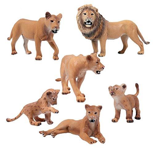 FLORMON Figuras de Animales 6 Piezas Realista Leones Modelo