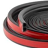 WELSTIK 風切り音 防止テープ 車用ドアモール 車ドア保護 ウェザーストリップ 防音 車 ドア フード リアハッチ用 静音 防尘 10M B型(黒)