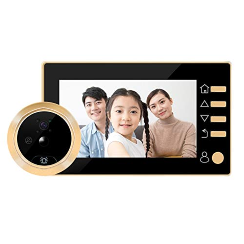 Bewakingscamera's Digitale Door Viewer Intelligent Wireless Kijkgaatje Camera, Anti-diefstal Deur Electronic Camera Deurbel For Home Security System (Color : Gold)