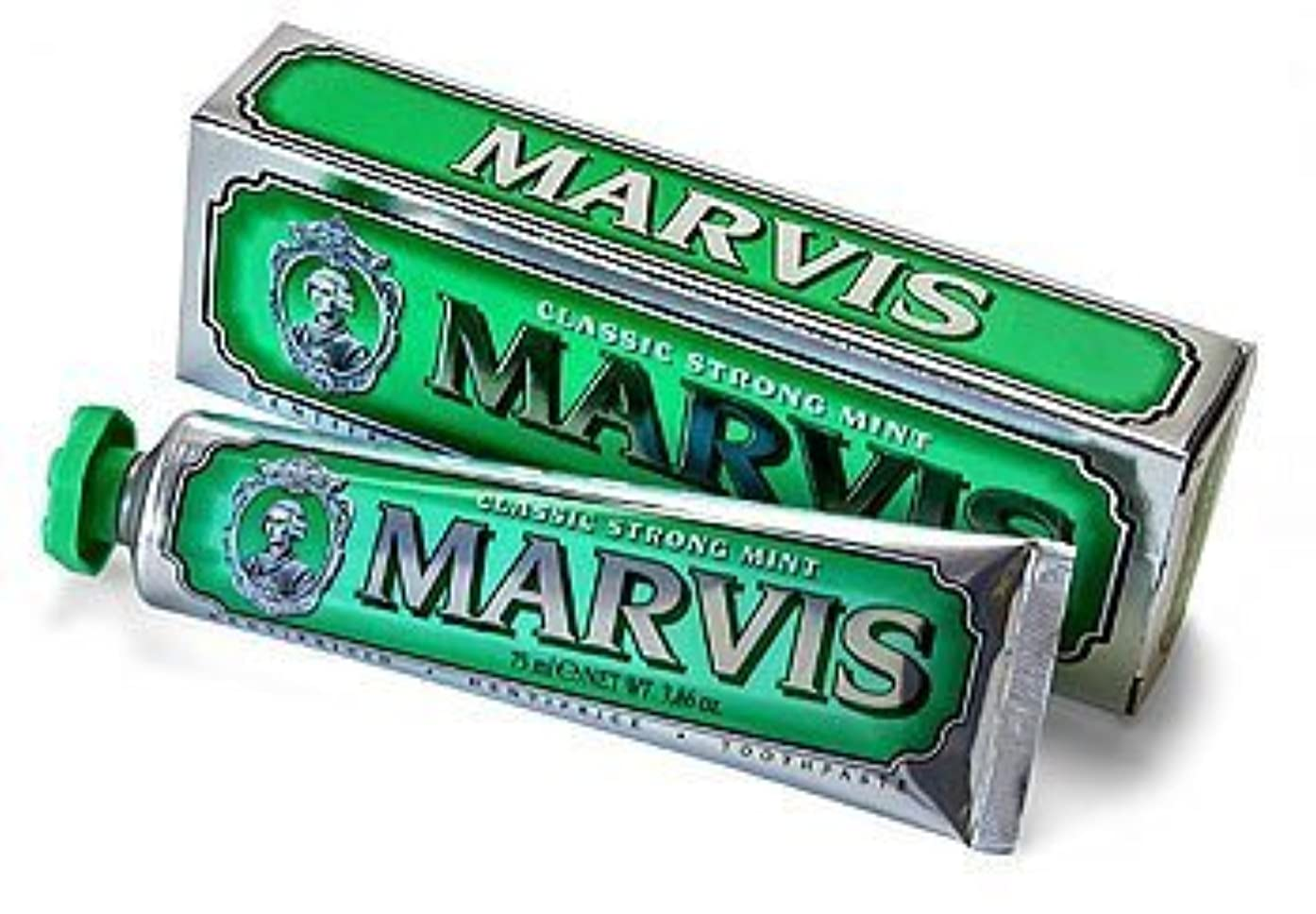 昇る役員厚くするMarvis Classic Strong Mint Toothpaste - 75ml by Marvis [並行輸入品]