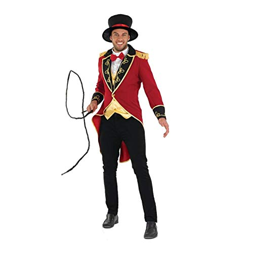 Fun Shack Rotes Zirkus Kostüm für Herren, Zirkusdirektor Jacke, Dompteur Verkleidung Erwachsene - XL