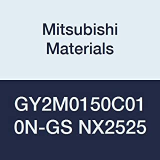 0.059 Grooving Width 0.004 Corner Radius Mitsubishi Materials GY2M0150C010N-GS NX2525 Cermet GY Grooving Insert for Grooving//Cutting Off and Low Feeds 2 Teeth C Seat Pack of 10