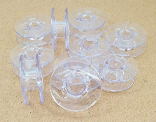 10 Plastic Bobbins 9033P for Pfaff Sewing Machine Light Blue Bobbins (TOP Quality) by LNKA
