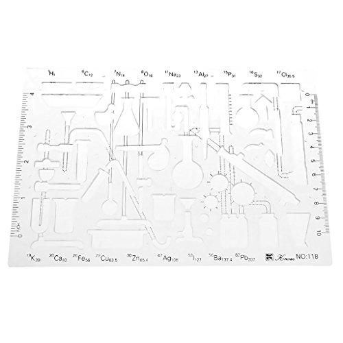 Scolastico Modello Di Disegno Modello Stencil Chimica Righelli Goniometri Misurazione Dimensionale Artigianato DIY