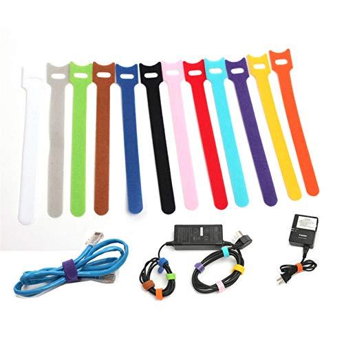 JIAHUI 20 unidades de cinta adhesiva para sujetar cables y sujetadores, con...